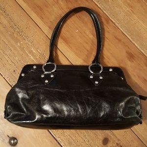 Hobo Black Shiny Leather Purse